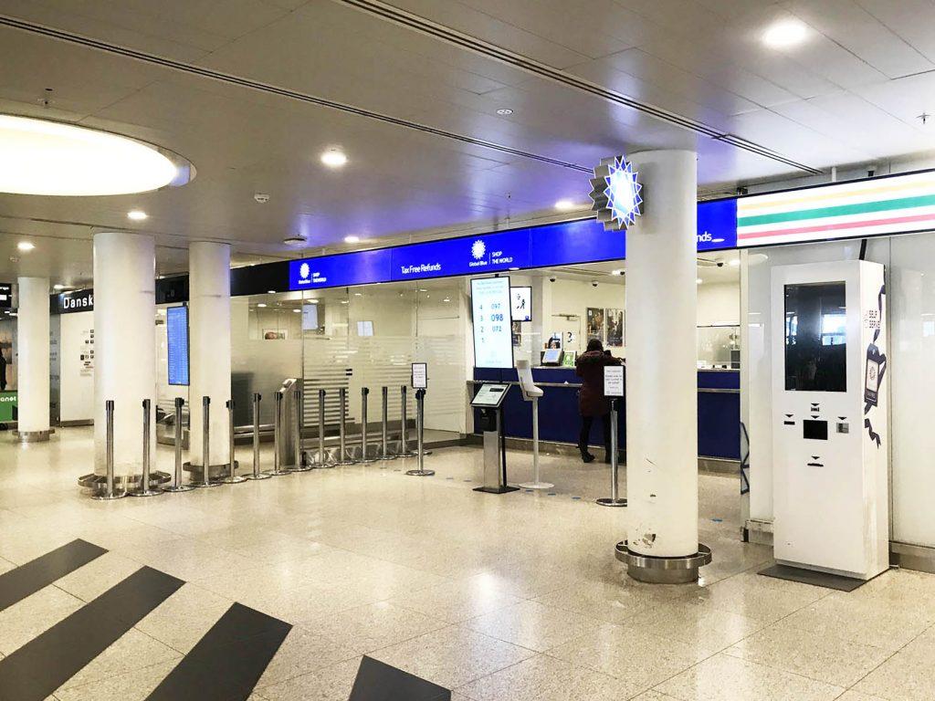 北欧旅行に行ったらGrobal Blueで税金(付加価値税:VAT)の戻しの手続きをしよう TAX FREE Refunds デンマーク空港