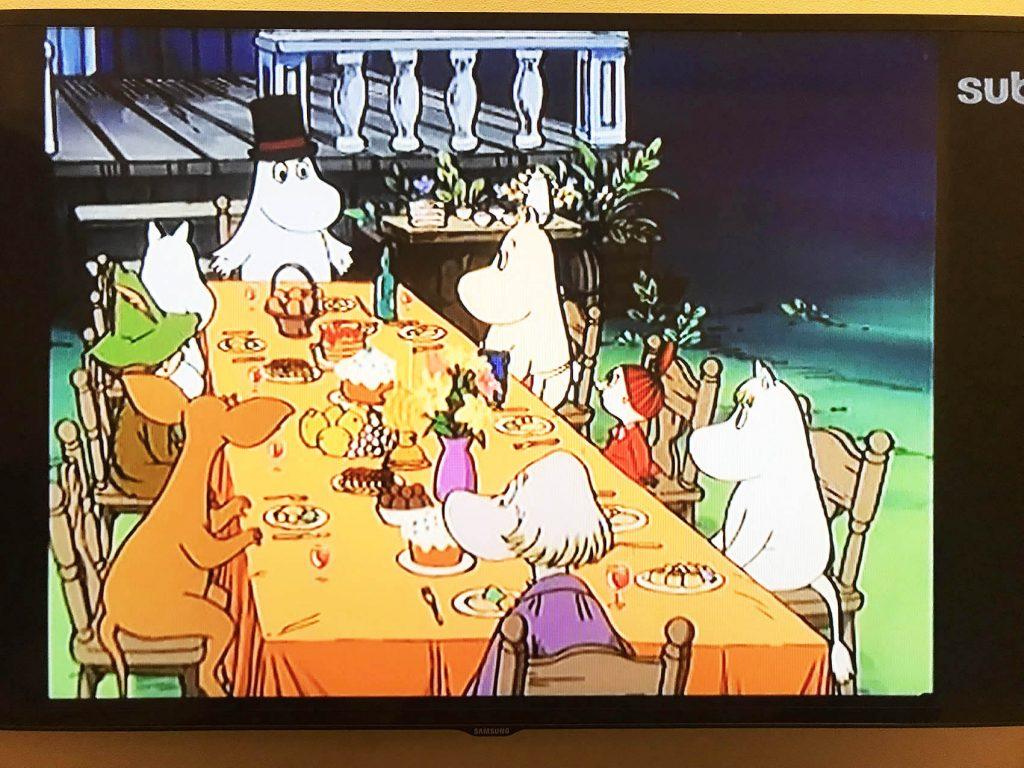 フィンランドの早朝テレビアニメ「ムーミン」